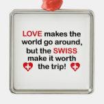 Amor suizo adorno de navidad