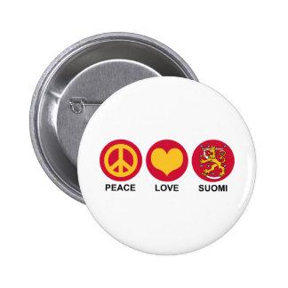 Amor Suomi de la paz Pin
