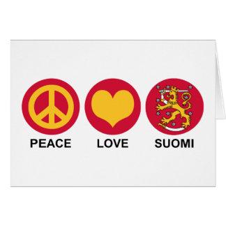 Amor Suomi de la paz Tarjeta De Felicitación