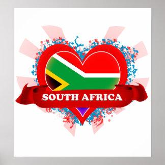Amor Suráfrica del vintage I Poster