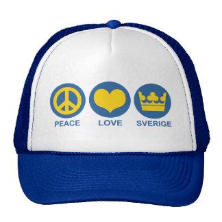 Amor Sverige de la paz Gorro De Camionero