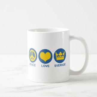 Amor Sverige de la paz Taza