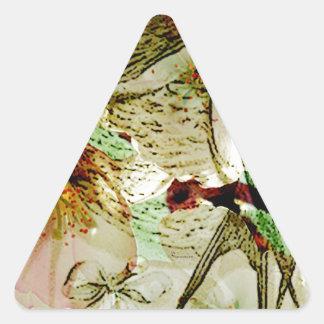 AMOR SWALLOWS2.jpg de la PRIMAVERA Pegatina De Trianguladas