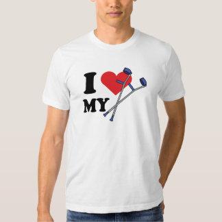 Amor T para hombre de la muleta Playera