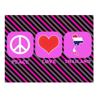 Amor Tailandia de la paz Postal