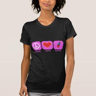 Amor Taiwán de la paz Camiseta