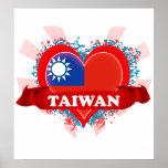 Amor Taiwán del vintage I Poster
