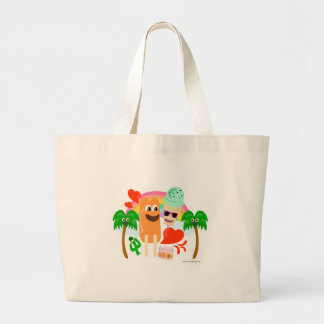 Amor tan lindo del verano bolsa tela grande