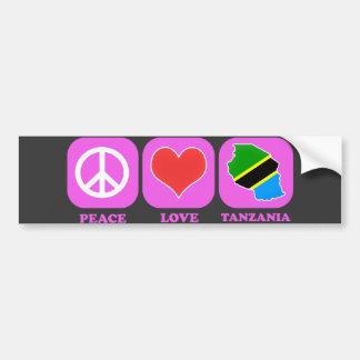 Amor Tanzania de la paz Pegatina De Parachoque