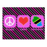 Amor Tanzania de la paz Postales