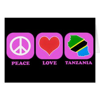 Amor Tanzania de la paz Tarjeta