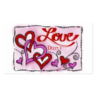 Amor Plantilla De Tarjeta Personal