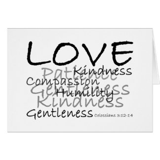 Amor (tarjeta de Colossians 3) Tarjeta De Felicitación
