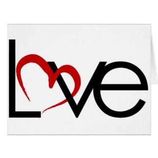 Amor Tarjeta De Felicitación Grande