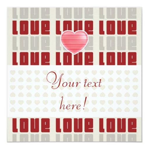 Amor - tarjeta de felicitación/invitación