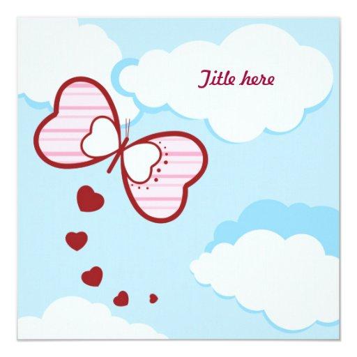 """Amor - tarjeta de felicitación/invitación invitación 5.25"""" x 5.25"""""""