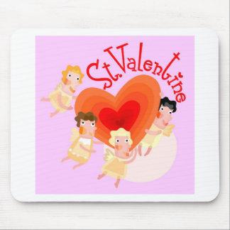 amor - tarjeta del día de San Valentín del st Alfombrilla De Ratones