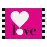 ¡Amor! Tarjeta - rosa