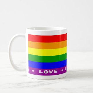 Amor = taza blanca clásica del amor