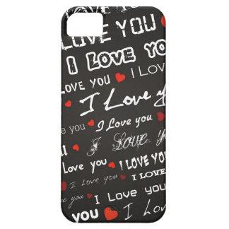 Amor te amo iPhone 5 carcasas