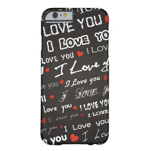 Amor te amo funda para iPhone 6 barely there