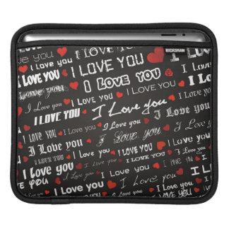 Amor te amo fundas para iPads