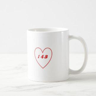 Amor, te amo taza básica blanca