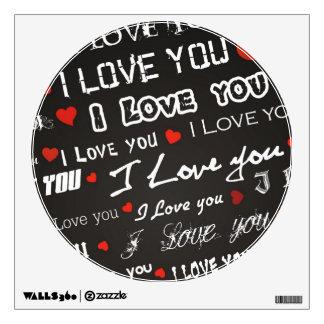 Amor te amo vinilo decorativo