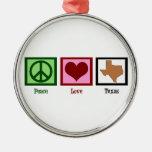Amor Tejas de la paz Ornato