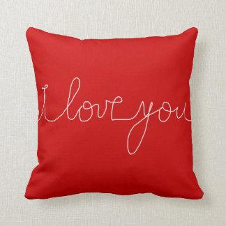 amor-temático romántico rojo/blanco cojines