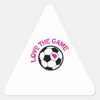 Amor The Game Pegatina Triangular