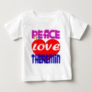 Amor Theremin de la paz Playeras