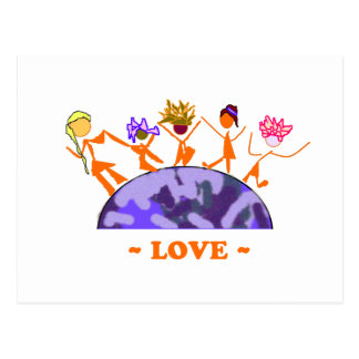 Amor - tierra postales
