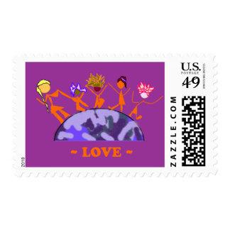 Amor - tierra sello postal