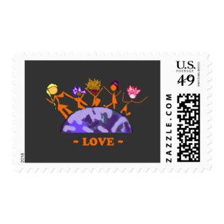 Amor - tierra sellos