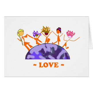 Amor - tierra tarjeta de felicitación