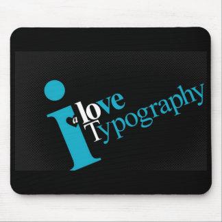 amor-tipografía-uno-porción alfombrilla de ratón