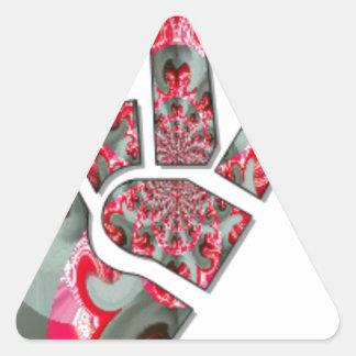 Amor todo de Hakuna Matata de la paz para ahorrar Pegatina Triangular