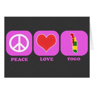 Amor Togo de la paz Tarjeta