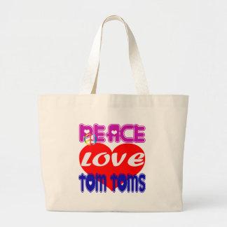 Amor Tom Toms de la paz Bolsa