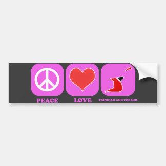 Amor Trinidad and Tobago de la paz Etiqueta De Parachoque