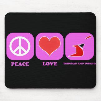 Amor Trinidad and Tobago de la paz Tapetes De Ratones