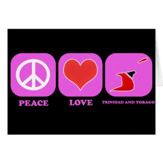 Amor Trinidad and Tobago de la paz Tarjeton