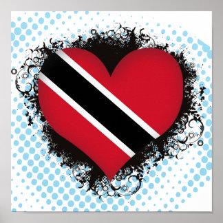 Amor Trinidad and Tobago del vintage I Póster