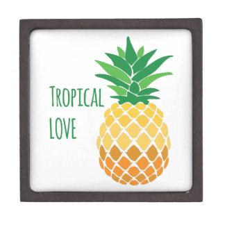 Amor tropical cajas de recuerdo de calidad