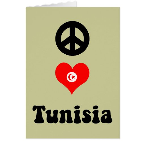 Amor Túnez de la paz Felicitación