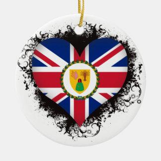 Amor Turks and Caicos Islands del vintage I Adorno De Reyes