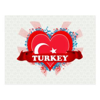 Amor Turquía del vintage I Postal