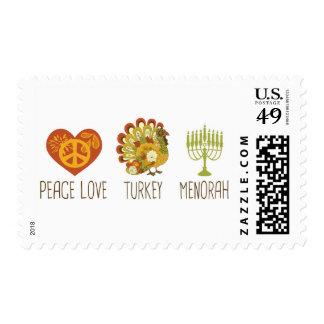 Amor Turquía Menorah de la paz Sello Postal