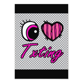 """Amor Txting del corazón I del ojo de Emo Invitación 5"""" X 7"""""""